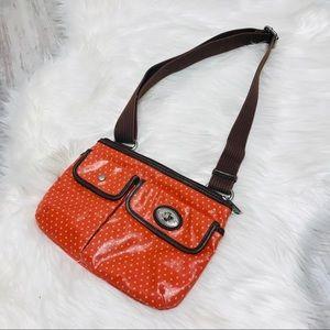 Fossil Orange Crossbody Bag